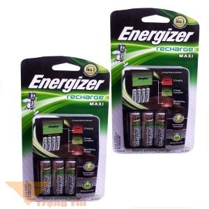 Máy sạc pin Energizer tự ngắt kèm 4 pin 2000mah CHVCM4