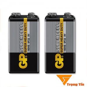 Pin GP Super Cacbon, pin vuông 9v