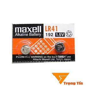 Pin AG3 LR41 maxell alkaline 1.5v