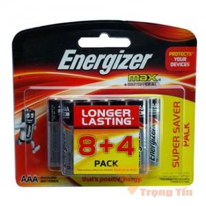 Pin AAA Energizer Alkaline vỉ 12 viên
