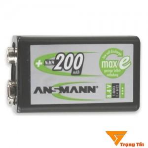 pin sạc 9V ANSMANN 175mAh, pin sạc vuông
