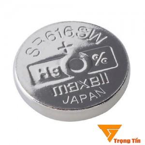 pin đồng hồ SR616SW Maxell