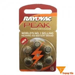 Pin máy trợ thính 675 Rayovac PR44 (vỉ 6 viên)