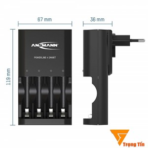 Máy sạc pin Ansmann Powerline 4 Smart