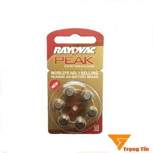 Pin máy trợ thính 312 Rayovac PR41 (vỉ 6 viên)